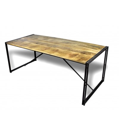 "Table de Repas industrielle bois patiné ""Nevada"", 200 cm"
