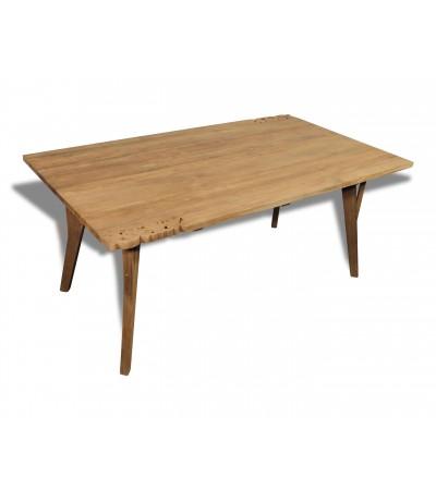 """Table de Repas """"Fidji"""" bois de Teck avec volutes fleuries, 180 cm"""