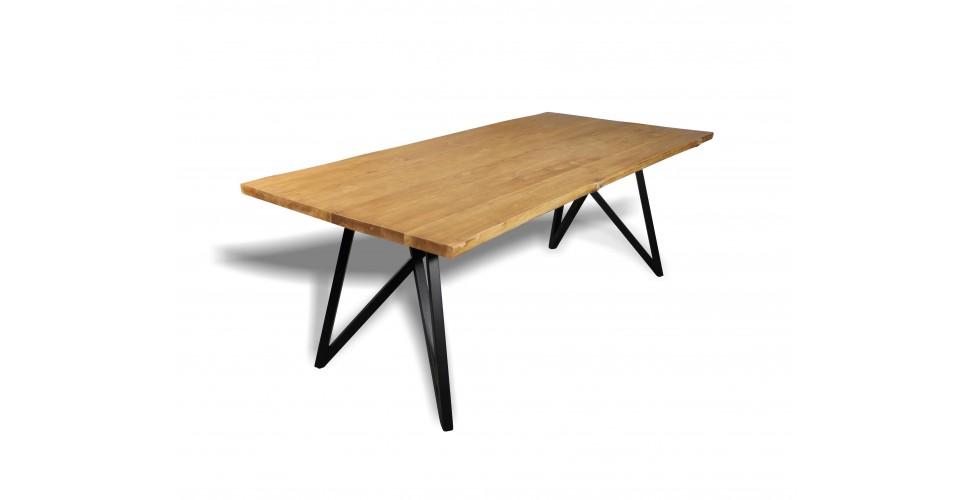 """Table à dîner """"Nicobar"""" bois de teck recyclé, 210 cm"""