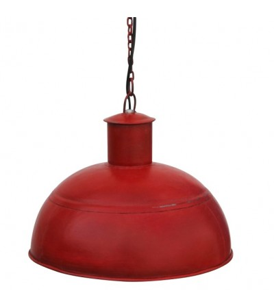 2 x Lampes SUSPENSION DESIGN INDUSTRIEL MÉTAL ROUGE BARRIO ES