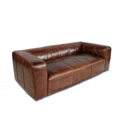"""""""Bryce"""" 3-Sitzer-Sofa, tief, aus patiniertem braunem Leder"""