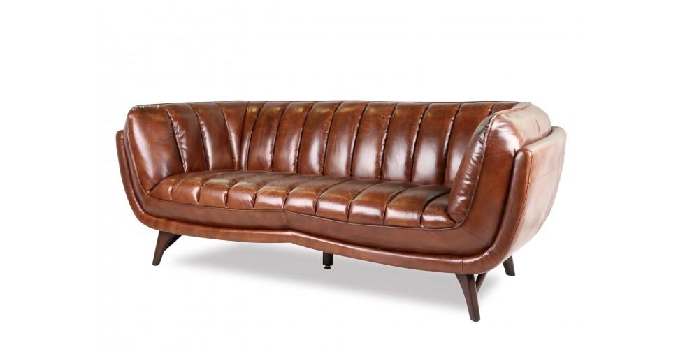 """Sofa """"Jessie"""" Braun Vintage Leder 3 sitzer"""