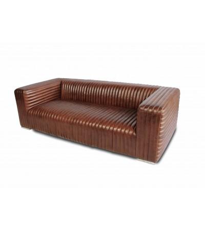 "Sofa ""Dexter"" Braun Vintage Leder 3 sitzer"