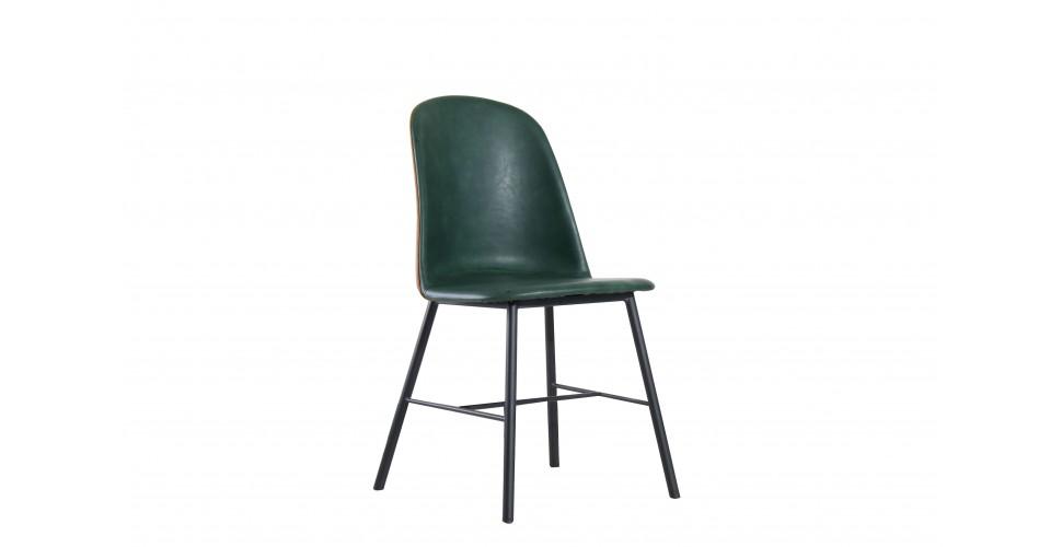 "4 chaises bicolores cuir bycast ""Jones"""