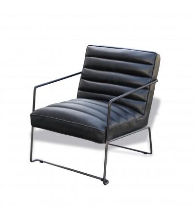 """Sessel aus schwarzem Leder im Designstil """"Griffin"""""""