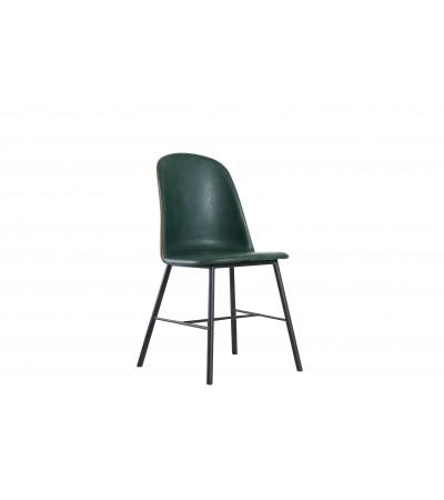"6 chaises Vert cuir bycast ""Jones"""