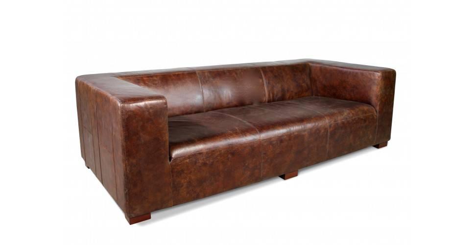 """Sofa """"Joyce"""" Braun Vintage Leder 3 sitzer"""
