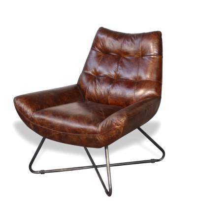 "Braun Vintage Leder Sessel ""Elvis"""