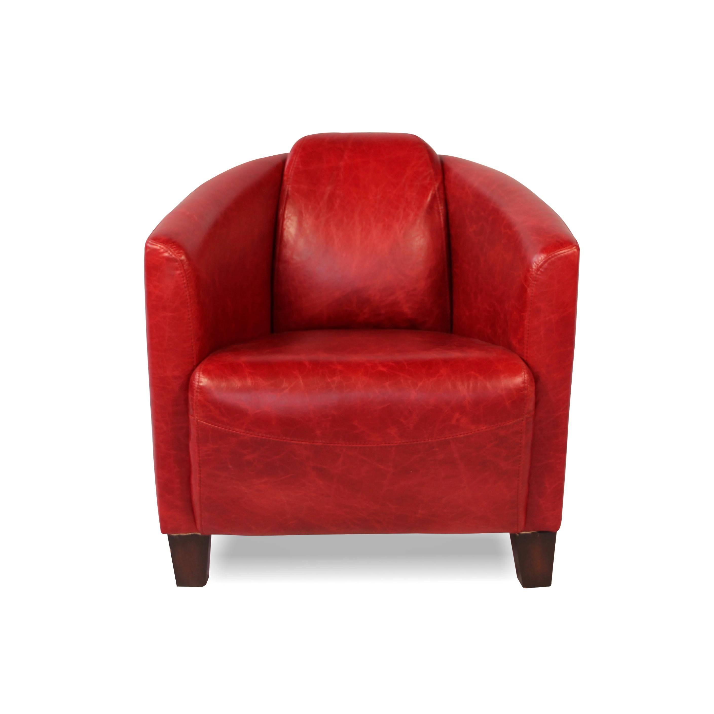 fauteuil club vintage en cuir patin et vieilli rouge. Black Bedroom Furniture Sets. Home Design Ideas