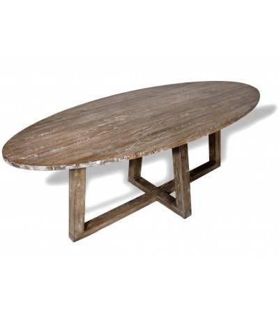 """Table de Repas """"Sigrid"""" ovale bois massif , 220 cm"""