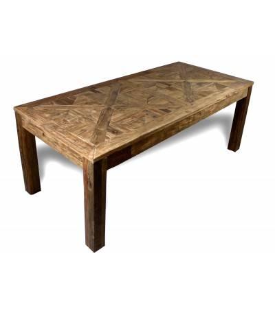 """Table de Repas """"Château"""" bois massif d'Orme , 200 cm"""