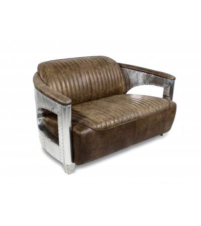 """Byrd"" Aviator Sofa Leder ""Whiskey Brown"" Farbe"