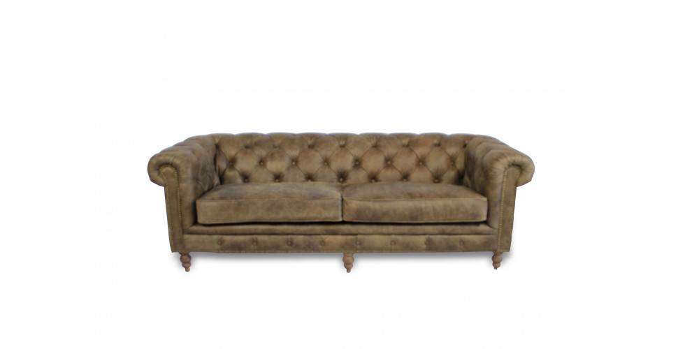 "Chesterfield ""Clyde"" braunes Ledersofa ""Whiskey Brown"""