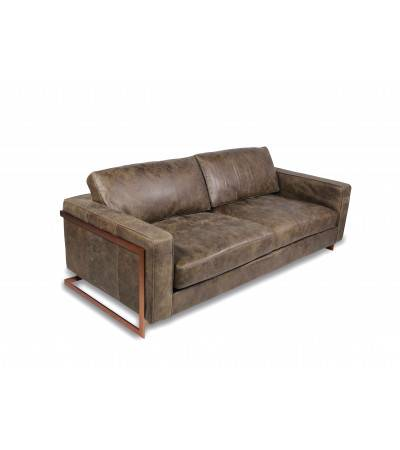 """Connor"" Leder Braun Ledersofa ""Whiskey Brown"""