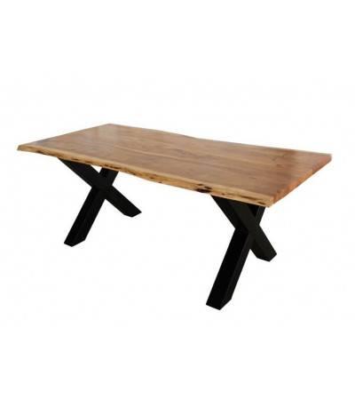 Table à dîner bois d'acacia Massif, 200 cm