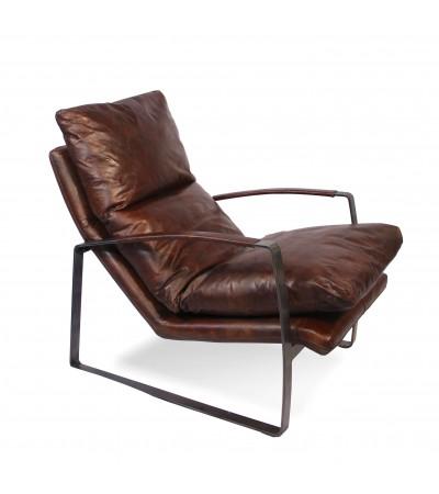 Vintage braun weiches Leder Design Sessel