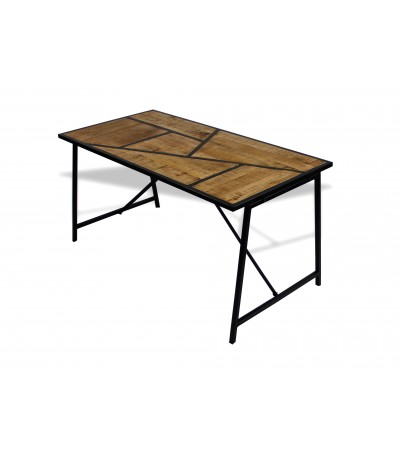 """Table de repas """"Queens"""" bois de manguier et métal, 150 cm"""