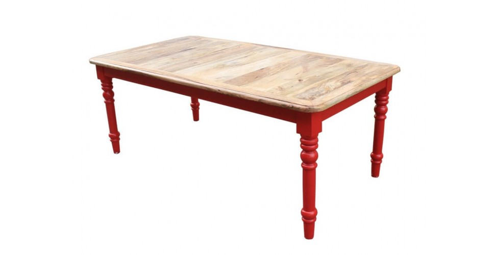 """Table à manger campagne chic """"Bowery"""", 190 cm"""
