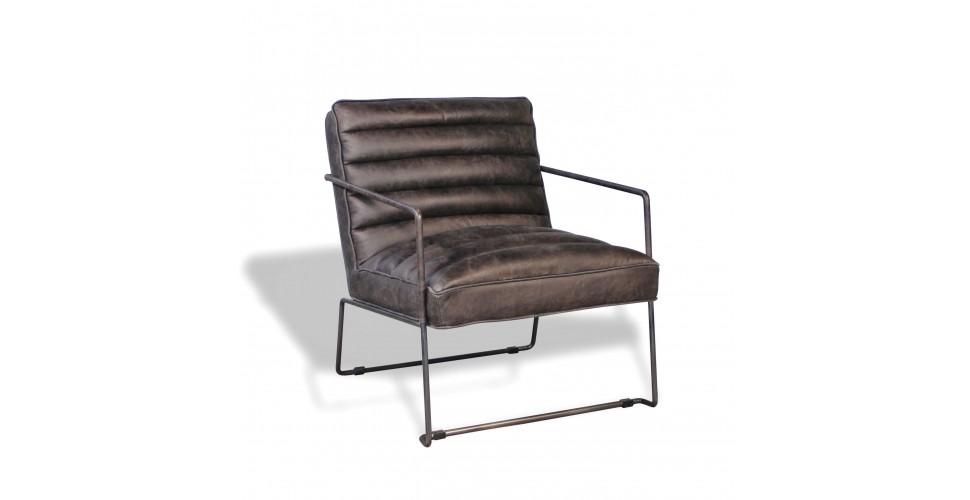 "Fauteuil ""Griffin"" cuir gris style design"